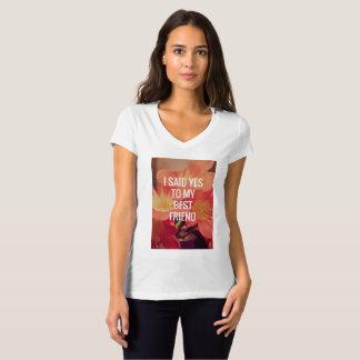 Camiseta del compromiso de las mujeres