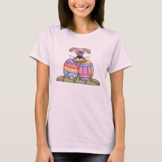 Camiseta del conejito y de los huevos de pascua