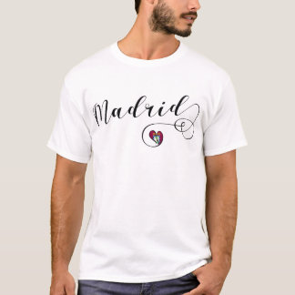Camiseta del corazón de Madrid, España