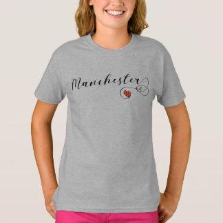 Camiseta del corazón de Manchester, Inglaterra