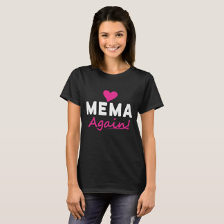 Camiseta Del corazón de Mema regalo de la invitación del