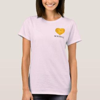 Camiseta del corazón de Pickleball del amor