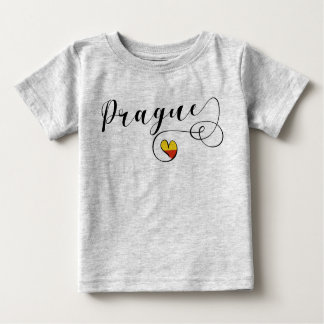 Camiseta del corazón de Praga, República Checa