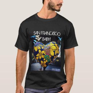 Camiseta del corazón de San Francisco - cuadrado