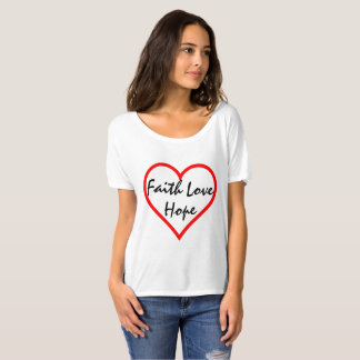 Camiseta del corazón del amor de la esperanza de