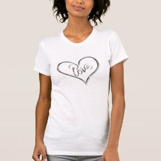 Camiseta del corazón del amor del Grunge
