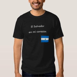"""""""Camiseta del corazon del en MI de El Salvador"""" Camisas"""