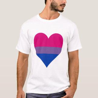 Camiseta del corazón del orgullo del Bisexuality