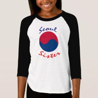 Camiseta del coreano de la hermana de Seul