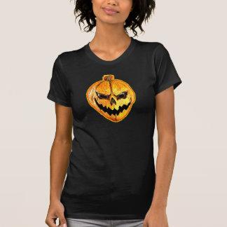 Camiseta del cráneo de la calabaza de Halloween