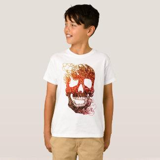 Camiseta del cráneo de los niños TAGLESS