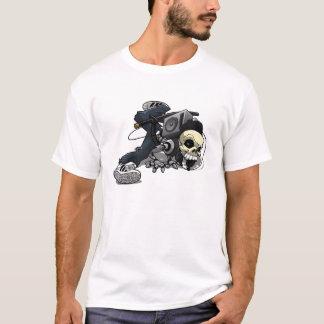 Camiseta del cráneo del break dance