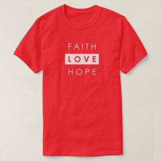 Camiseta del cristiano del amor de la esperanza de