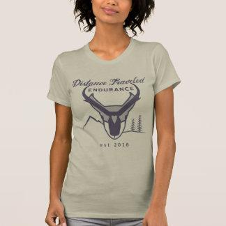 Camiseta del cuello barco de las mujeres rugosas