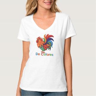 Camiseta del cuello en v de Hanes de las mujeres