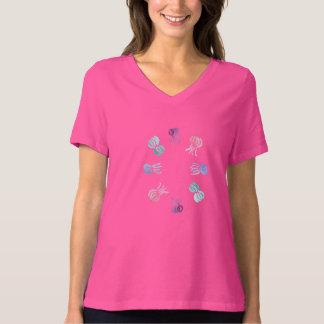 Camiseta del cuello en v del ajuste cómodo de las