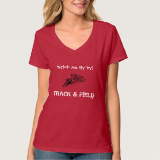Camiseta del cuello en v del atletismo