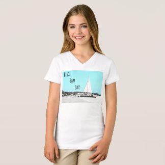 Camiseta del cuello en v del jersey de la multa de
