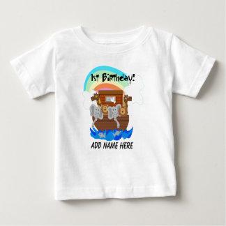 Camiseta del cumpleaños de la arca de Noah Camiseta De Bebé