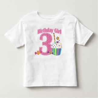 Camiseta del cumpleaños de la magdalena del número
