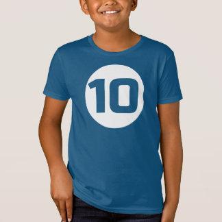 Camiseta del CUMPLEAÑOS del RECORTE #10 de la