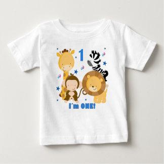 Camiseta del cumpleaños del safari de selva 1ra