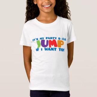 Camiseta del cumpleaños del salto del trampolín
