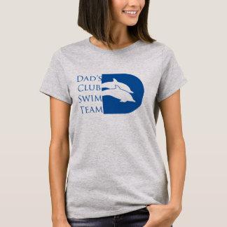 Camiseta del delfín de las mujeres, gris