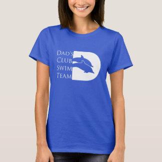 Camiseta del delfín de las mujeres, real