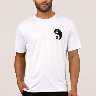 Camiseta del Deporte-Tek de los hombres (pequeño