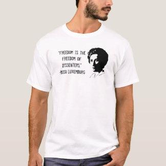Camiseta del desacuerdo de Rosa Luxemburg