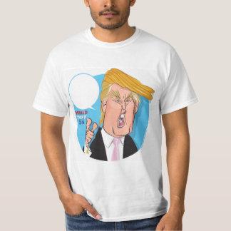 Camiseta del dibujo animado de Donald Trump -