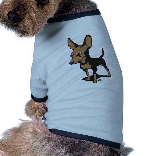Camiseta del dibujo animado de Miniaturepincher Camisas De Perritos