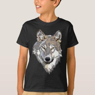 Camiseta del dibujo del lobo