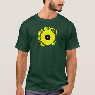 Camiseta Del disco de vinilo color amarillo para siempre