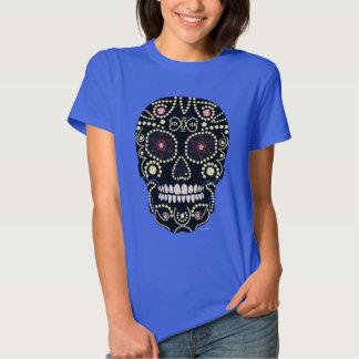 Camiseta del diseño del cráneo del diamante del