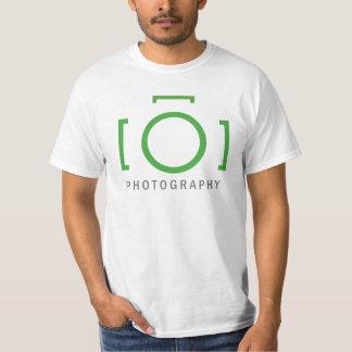 Camiseta del diseño del logotipo de la fotografía