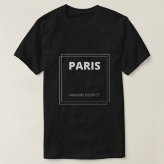 Camiseta del distrito de la moda de París, Francia