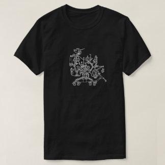 Camiseta del Doodle del trabajador del robot