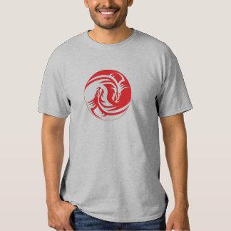Camiseta del dragón de Yin y de Yang