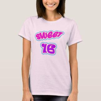 Camiseta del dulce 16