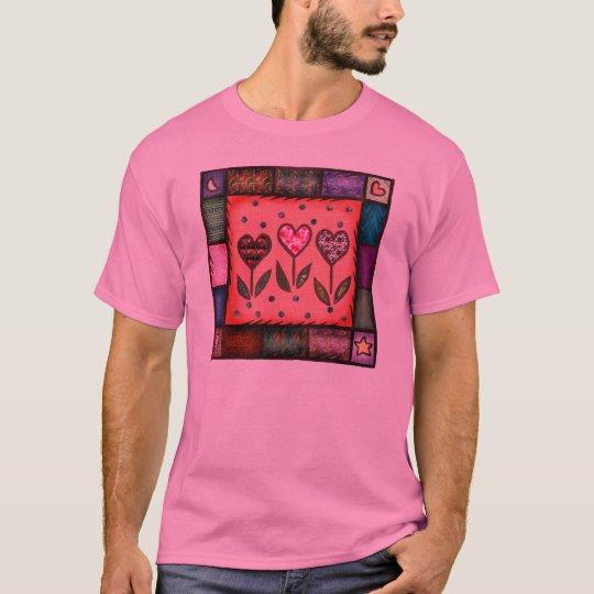 Camiseta del edredón de la tarjeta del día de San