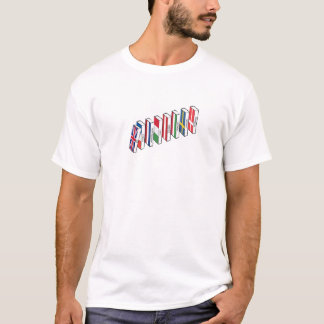 Camiseta del efecto de dominó de la UE de las