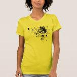 Camiseta del ejemplo de Yin Yang y de las flores