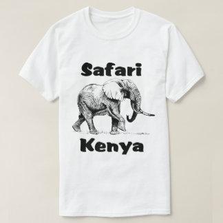 Camiseta del elefante de Bull del safari de Kenia