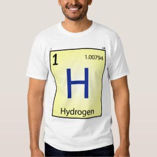 Camiseta del elemento del hidrógeno (h) - frente
