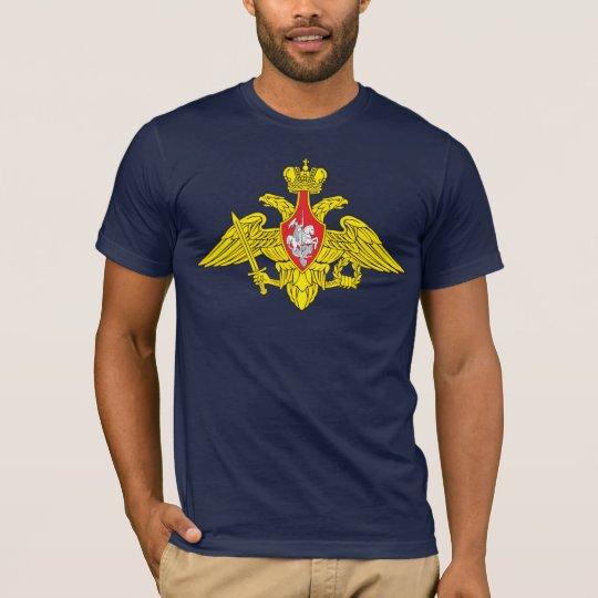 Camiseta del emblema del ejército de Rusia