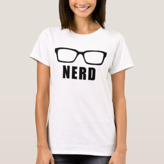 Camiseta del empollón, camiseta de la declaración,