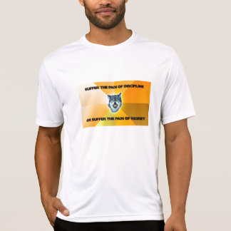 Camiseta del entrenamiento del lobo del valor