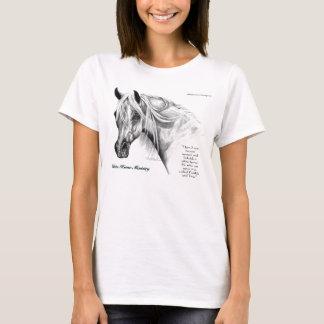 Camiseta del equipo del montar a caballo del